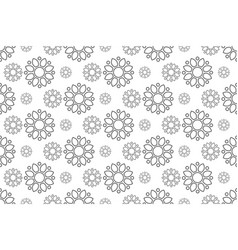 Outline floral pattern seamless flora backdrop vector