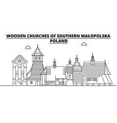 Poland - southern malopolska wooden churches vector