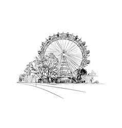 Prater park ferris wheel vienna austria vector