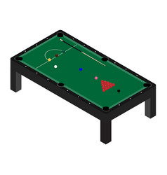 realistic snooker pool table with set billiard vector image