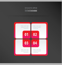 Rectangle presentation template neon pink vector