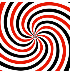 Red black and white summer spiral ray pattern vector