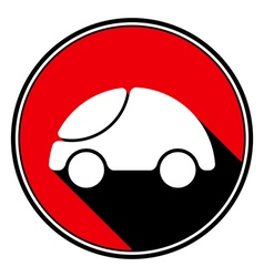Red information icon - white cute rounded car vector