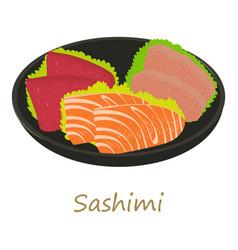Sashimi icon cartoon style vector