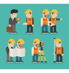 Set of construction worker eps10 format vector