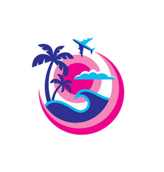 Summer travel - concept business logo template vector