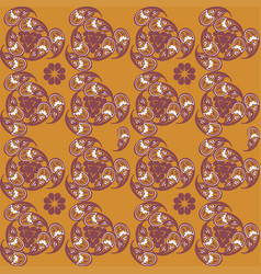 tajik ornaments seamless pattern vector image