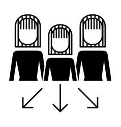 teamwork people group progress arrows vector image