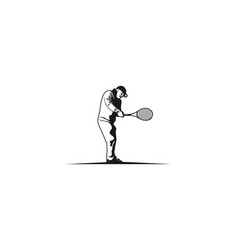 tennis player tennis cup logo vector image