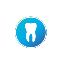 Tooth circle icon flat design style tooth simple vector
