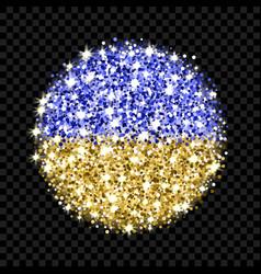 ukraine flag sparkling badge vector image