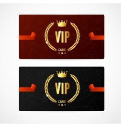 VIP Card Set vector image