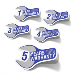 warranty labels vector image