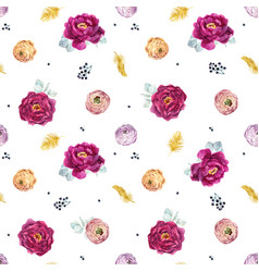 Watercolor floral pattern vector