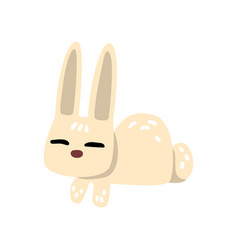 white funny little bunny cartoon character vector image