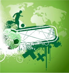 abstract soccer vector image