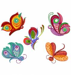color butterfly vector image vector image