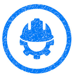development rounded grainy icon vector image