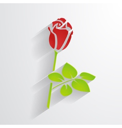 paper rose vector image vector image