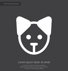 puppy premium icon white on dark background vector image