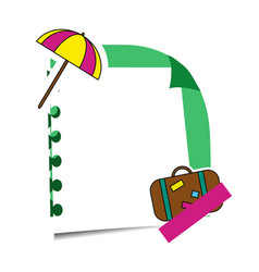 realistic sticky note with summer holidays vector image