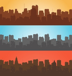 Set contour of city with a different background vector image vector image