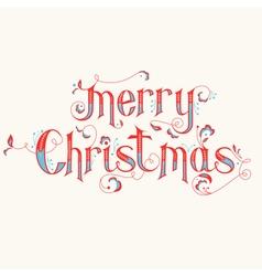 Vintage Christmas Calligraphy Card vector image