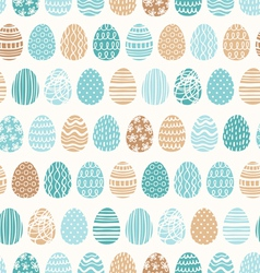 Easter eggs ornaments pattern vector image vector image