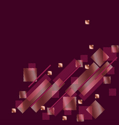 geometry modern style concept background vector image