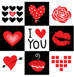 valentine i love you sweetheart cute cartoon vector image vector image