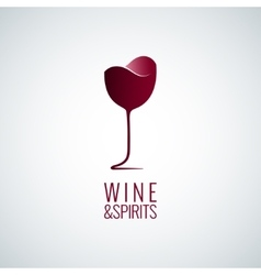 wine glass logo design background vector image