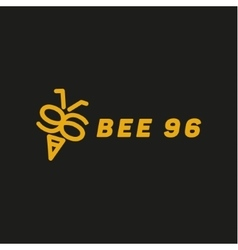 Bee wings in the form of numbers 96 vector image
