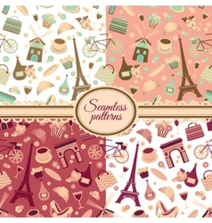 Collection of seamless patterns vector image vector image