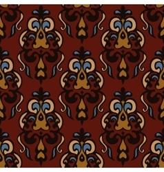 Luxury Damask seamless tiled motif pattern vector image
