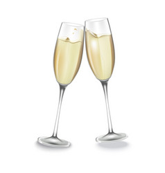 Two glasses of champagne vector