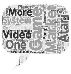 What is the best video game system text background vector