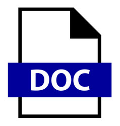 file name extension doc type vector image vector image