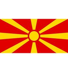 Flag of Macedonia vector image vector image