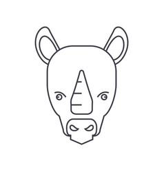 rhinoceros line icon sign on vector image