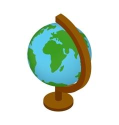 School globe isometric 3d icon vector image