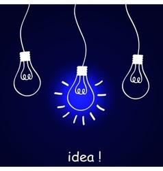 The concept of idea vector image