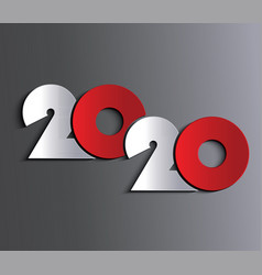 2020 new year or christmas background vector image