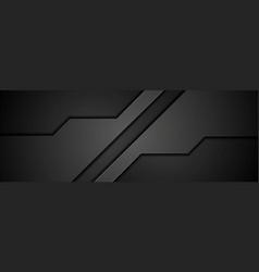 Abstract black concept tech banner design vector
