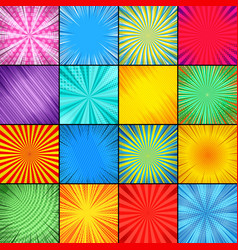 abstract colorful comic backgrounds composition vector image