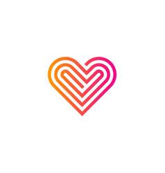 Accuracy love logo icon design vector