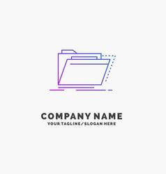 Archive catalog directory files folder purple vector