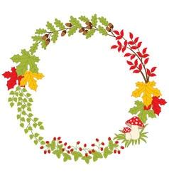Autumn Forest Wreath vector