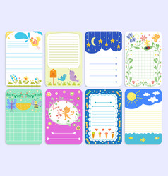 Baby shower design cute layout journal vector