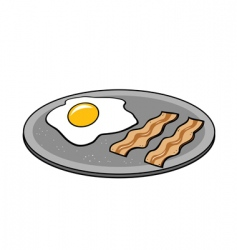 bacon eggs vector image