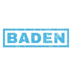 Baden Rubber Stamp vector image